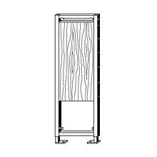 Viega Eco Plus-Befestigungselement, H: 113 cm, für barrierefreie Vorwand-Installationen