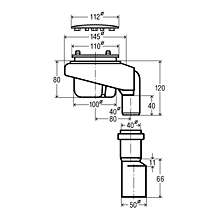 Viega Tempoplex Ablaufgarnitur für flache Duschwannen, Abgang senkrecht, Komplett-Set