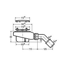 Viega Tempoplex Ablaufgarnitur für flache Duschwannen, Abgang waagerecht, Komplett-Set