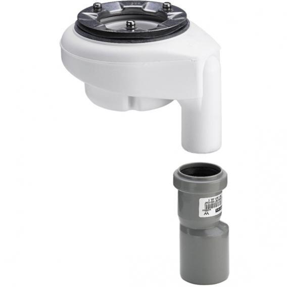 Viega Tempoplex Funktionseinheit Ablaufgarnitur für flache Duschwannen, Abgang senkrecht