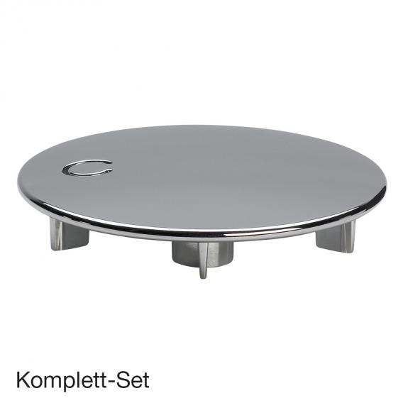 Viega Tempoplex Komplett Set, flach für Duschwannen mit Ø90 mm Ablauf, mit Ausstattungsset chrom