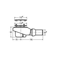 Viega Tempoplex-Plus Ablaufgarnitur mit hoher Ablaufleistung, Komplett-Set
