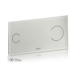 Viega Visign for more 100S Betätigungsplatte Einscheibensicherheitsglas klar/grau