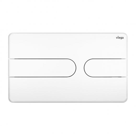 Viega Visign for Style 23 WC-Betätigungsplatte weiß/weiß, Kunststoff/Kunststoff