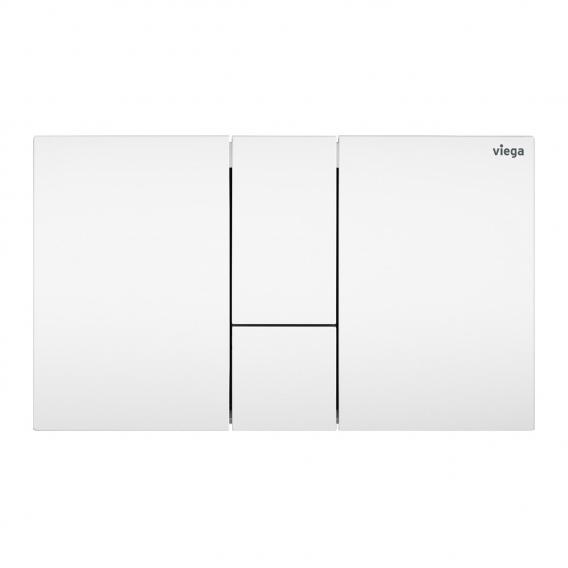 Viega Visign for Style 24 WC-Betätigungsplatte weiß/weiß, Kunststoff/Kunststoff