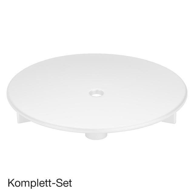 Viega Tempoplex Komplett Set, flach für Duschwannen mit Ø90 mm Ablauf, mit Ausstattungsset weiß
