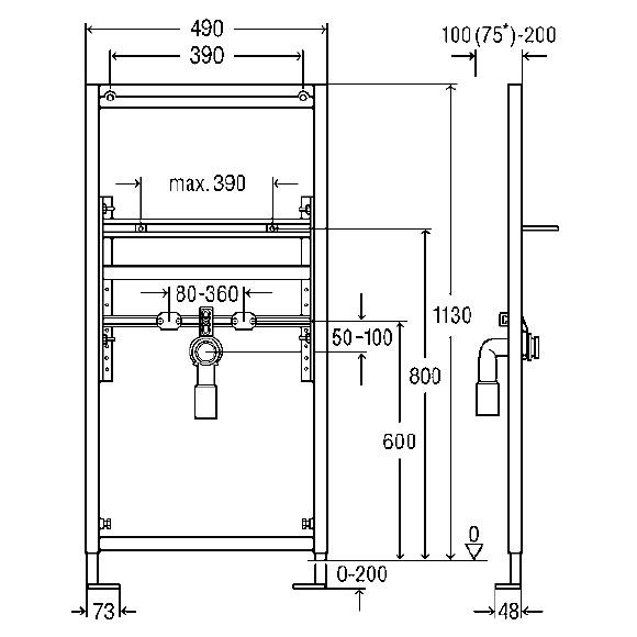 viega eco plus waschtisch element 641023 reuter. Black Bedroom Furniture Sets. Home Design Ideas
