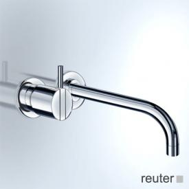 Vola Waschtisch Eingriffmischer für Unterputzmontage, Betätigungshebel links: 25 mm Ausladung 300 mm, edelstahl