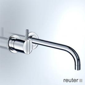 Vola Waschtisch Eingriffmischer für Unterputzmontage, Betätigungshebel links: 25 mm Ausladung: 225 mm, edelstahl