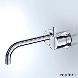 Vola Waschtisch Eingriffmischer für Unterputzmontage, Betätigungshebel rechts: 25 mm Ausladung: 225 mm, edelstahl