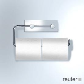 Vola T13 Papierhalter für zwei WC-Rollen edelstahl gebürstet