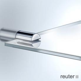 Vola T25 Ablageplatte edelstahl gebürstet, Acrylglas satiniert