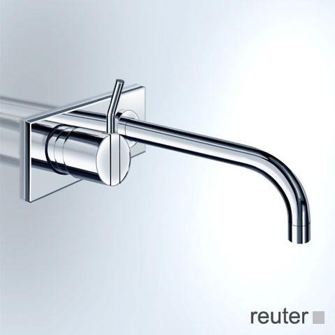 Vola Waschtisch Eingriffmischer für Unterputzmontage, Betätigungshebel links: 100 mm Ausladung: 225 mm, edelstahl