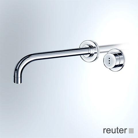 Vola Waschtisch-Wandauslaufventil für berührungslose Bedienung Ausladung: 160 mm, edelstahl