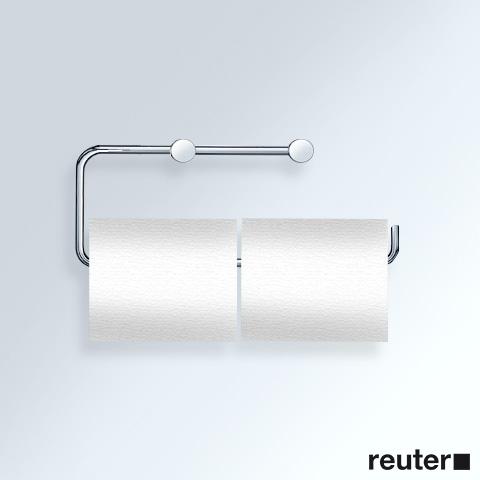 Vola T13BP Papierhalter für zwei WC-Rollen chrom