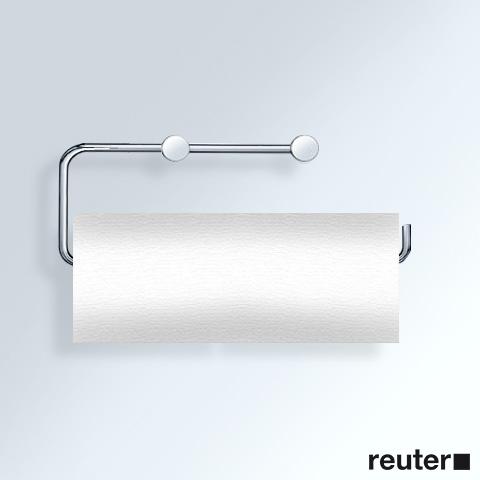 Vola T13LBP Papierhalter für 2 WC-Rollen oder 1 Küchenrolle chrom