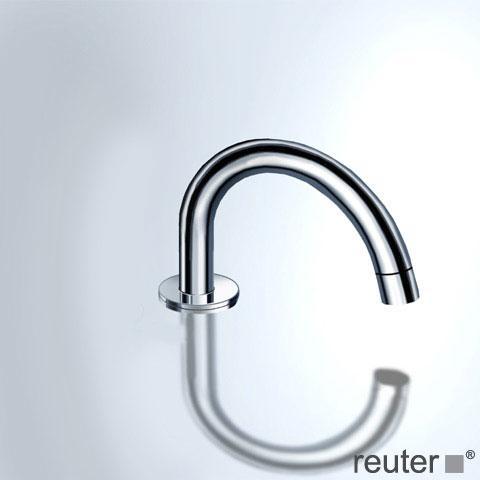Vola 090E Schwenkauslauf für Standmontage, Rohrdurchmesser: 24 mm ohne Ablaufgarnitur, chrom