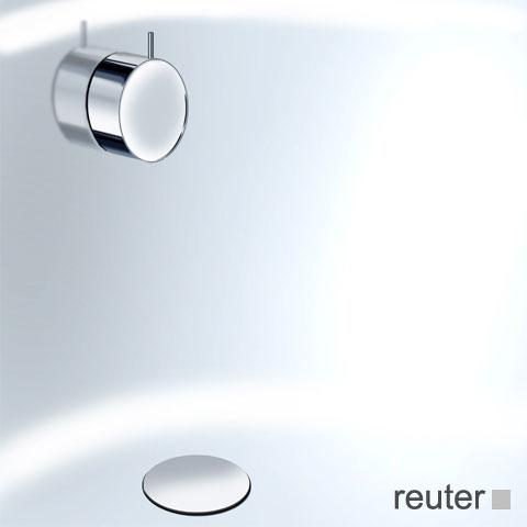 Vola A23 Ab- und Überlaufgarnitur, Komplett-Set chrom