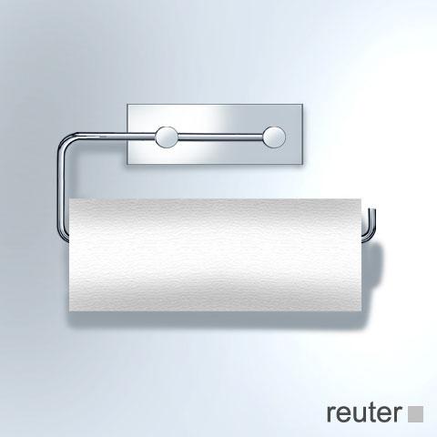 Vola T13L Papierhalter für 2 WC-Rollen oder 1 Küchenrolle chrom