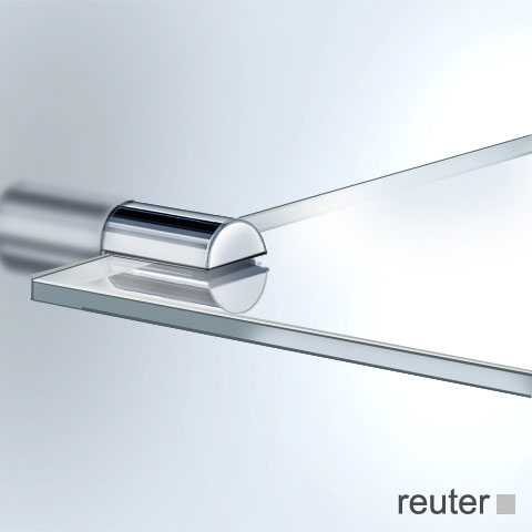 Vola T25 Ablageplatte chrom, Glas klar