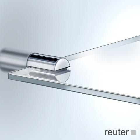Vola T25 Ablageplatte edelstahl gebürstet, Glas klar