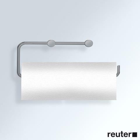 vola t13lbp papierhalter f r 2 wc rollen oder 1 k chenrolle edelstahl geb rstet t13lbp 40 reuter. Black Bedroom Furniture Sets. Home Design Ideas