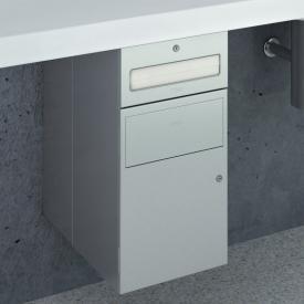Wagner-Ewar A-Linie Untertisch Kombination Papierspender und Abfallbehälter edelstahl gebürstet