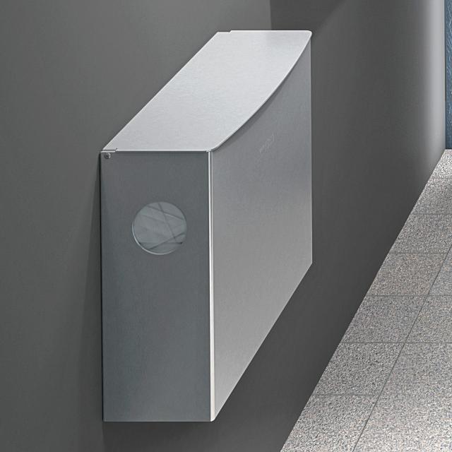 Wagner-Ewar A-Linie Hygieneabfallbehälter mit Hygiene-Beutelspender 4 Liter edelstahl poliert