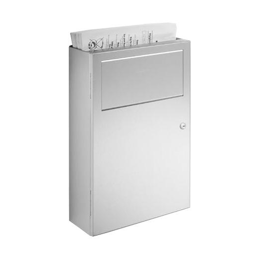 Wagner-Ewar A-Linie Hygieneabfallbehälter mit Papier-Hygienebeutelspender 6 Liter edelstahl gebürstet