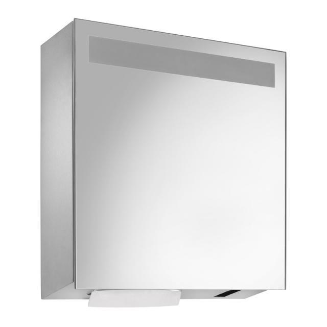 Wagner-Ewar A-Linie Set Spiegelschrank mit Sensor-Seife- und Papierspender, Aufstecktank