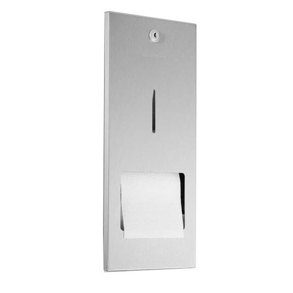 Wagner-Ewar A-Linie Unterputz Toilettenpapierhalter mit Reserverolle edelstahl gebürstet