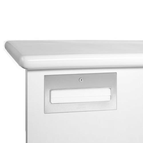 Wagner-Ewar A-Linie Untertisch Handtuchspender flächenbündig für 500 Papierhandtücher, edelstahl gebürstet