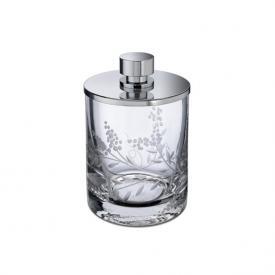 WINDISCH Barocco Wattepadbehälter mit Deckel chrom/klar