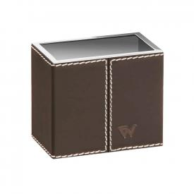 WINDISCH Box Kenia Zahnbürstenhalter chrom/braun