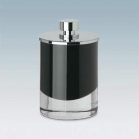 WINDISCH Fashion Wattebällchenbehälter schwarz/chrom