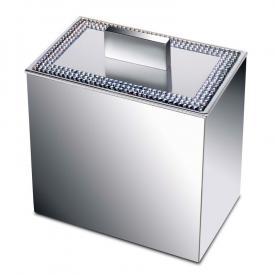 WINDISCH Star Light Square Utensilienbehälter mit Deckel chrom/klar