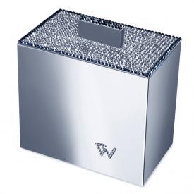 WINDISCH Star Light Square Wattebällchenbehälter mit Deckel chrom