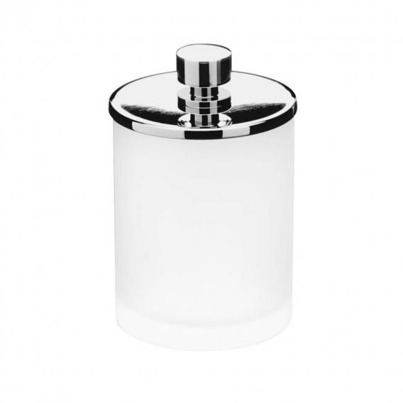 WINDISCH Addition Wattepadbehälter mit Deckel satiniert/chrom