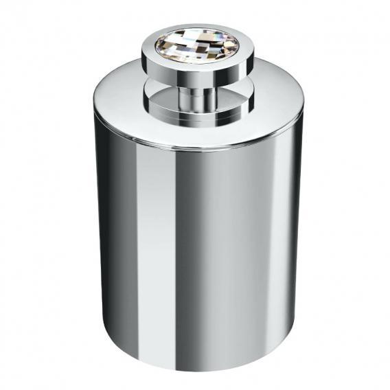 WINDISCH Moon Light Round Wattepadbehälter mit Deckel chrom/klar