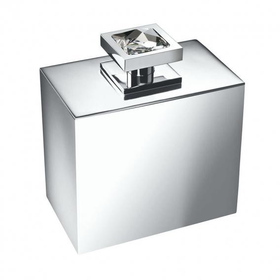 WINDISCH Moon Light Square Wattebällchenbehälter mit Deckel chrom