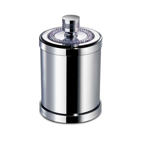 WINDISCH Star Light Round Utensilienbehälter mit Deckel chrom/klar