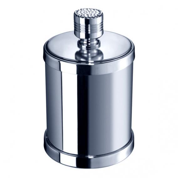 WINDISCH Star Light Round Wattepadbehälter mit Deckel chrom