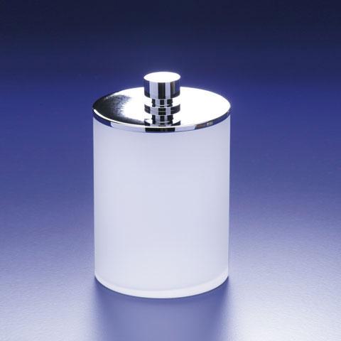 WINDISCH Addition Wattebällchenbehälter mit Deckel satiniert/chrom