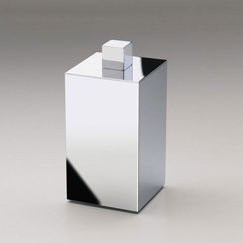 WINDISCH Box Metal Lineal Wattebällchenbehälter mit Deckel chrom