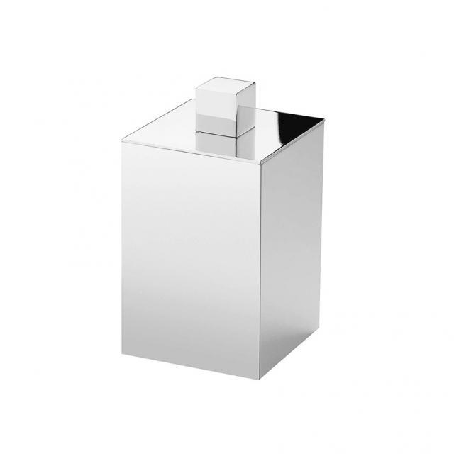 WINDISCH Box Metal Lineal Wattestäbchenbehälter mit Deckel nickel satiniert