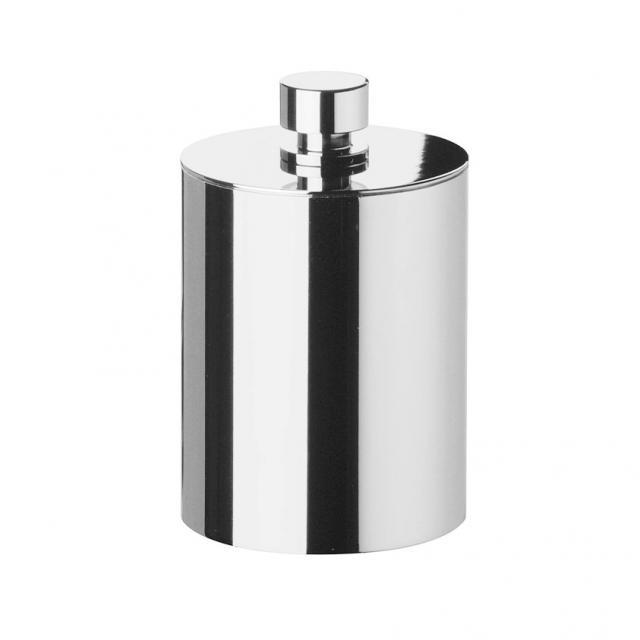 WINDISCH Cylinder Plain Wattebällchenbehälter mit Deckel chrom