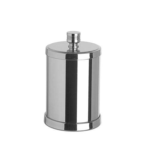 WINDISCH Cylinder Ribbet Wattestäbchenbehälter mit Deckel chrom