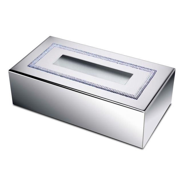 WINDISCH Shine Light Square Kleenex-Box chrom/klar
