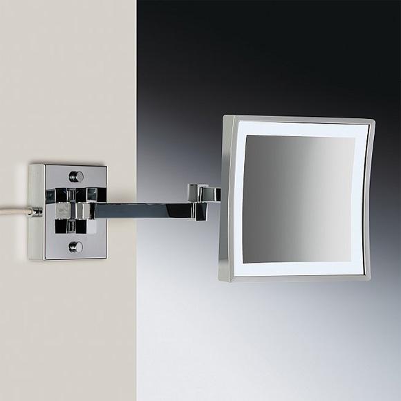 WINDISCH Universal Wand-Kosmetikspiegel, mit LED-Beleuchtung