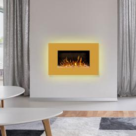 Wodtke feel the flame iVision Elektrokamin mit Dekorblende goldgelb
